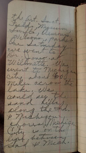 During the 1920's Reba Burright and Ivy Burright took a train journey to Chicago. Reba documented the trip in one of her notebooks page10.